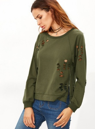 sweater girl girly girly wishlist olive green ripped
