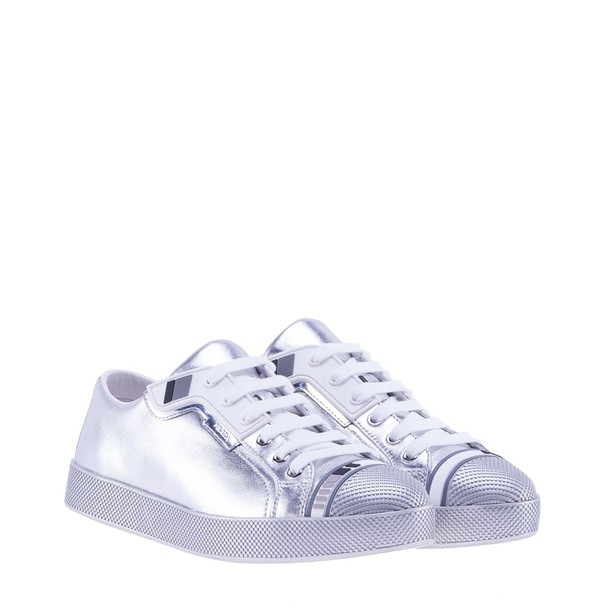Prada Linea Rossa sneakers silver shoes