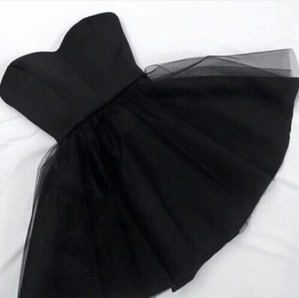 dress black short tulle skirt prom girl