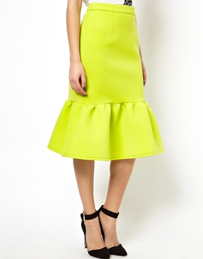 ASOS | ASOS Pencil Skirt with Peplum Hem at ASOS
