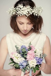 hair accessory,flower crown,hipster wedding,flowers,romantic