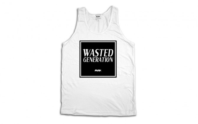 Phoenix Clothing Shop Wasted Generation Tank Top white