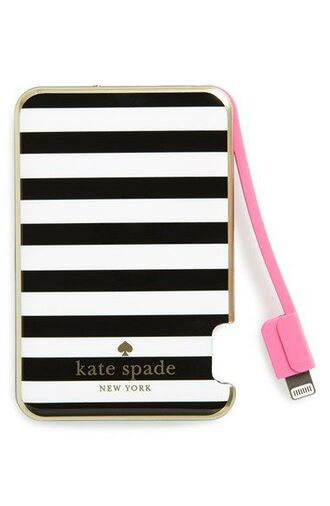 phone cover phone charger charger technology kate spade stripes valentines day gift idea