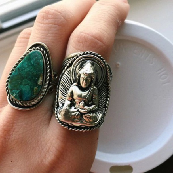 jewels ring buddha green jewelry