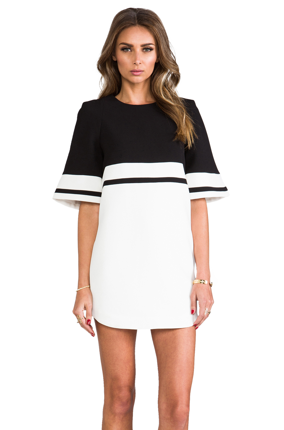 Cameo We Are Young Dress in Black & White | REVOLVE