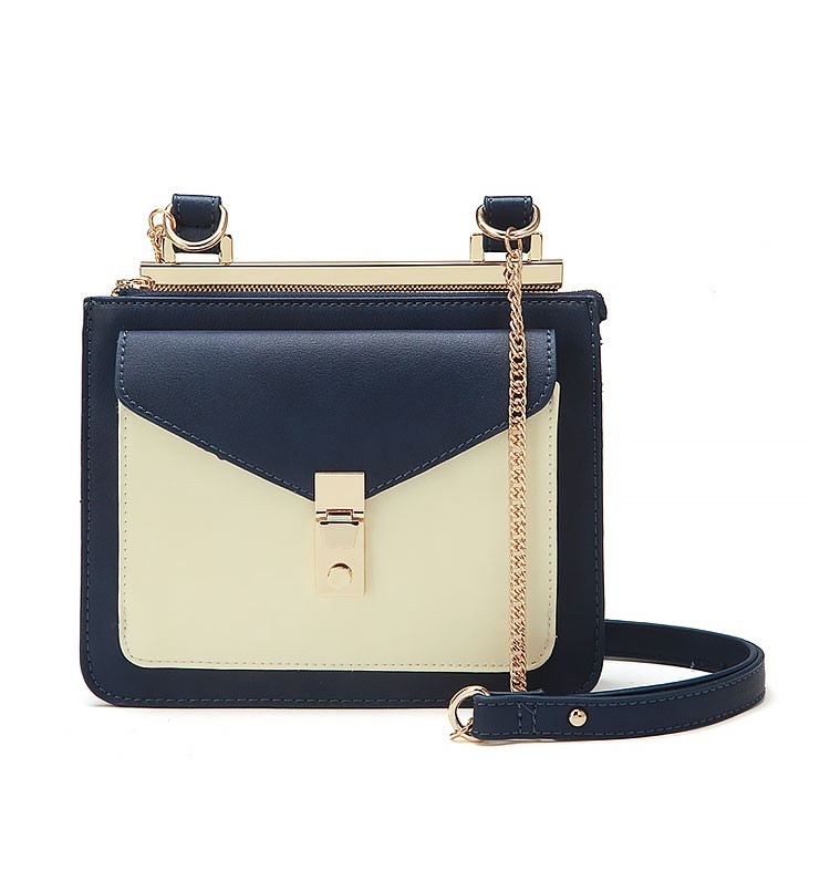 Shoulder Bag With Gold Tone Hardware
