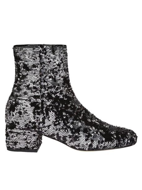 Chiara Ferragni candy ankle boots black shoes
