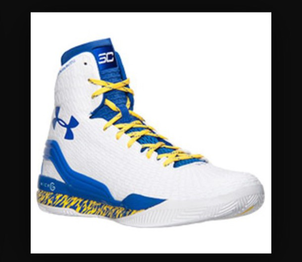 Shoes Steph Curry Blue Yellow White Clutchfit Drive Under