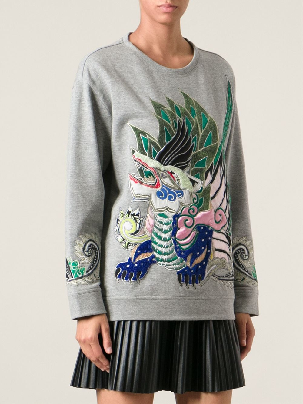 Roberto cavalli embroidered dragon sweatshirt