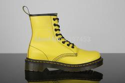 De alta calidad dr 1460 8 ojo martin botas de color amarillo suave genuino de la mujer de cuero zapatos de en de en Aliexpress.com