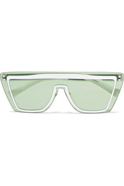 Valentino - The Rockstud D-frame Metal Sunglasses - Blue