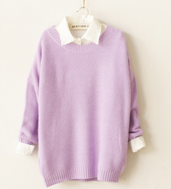 Sweater: tumblr, purple, pastel, pastel goth, pastel sweater ...