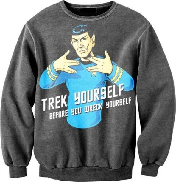 sweater star trek black