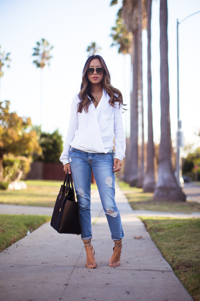 White Shirt and Blue Jeans | Song of Style
