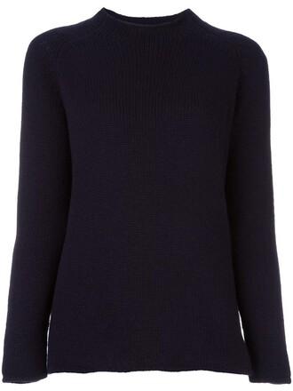 jumper high women high neck blue sweater