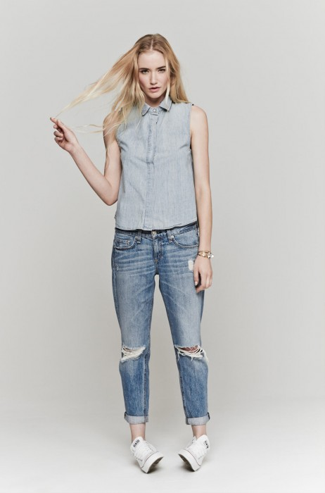 Rag & Bone Moss Boyfriend Jeans, Medium Wash | The Dreslyn