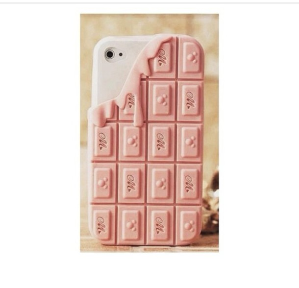 pink chocolate iphone cover easter