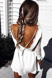 dress,white,white lace,white lace dress,backless,sexy,sexy dress,backless mini dress,summer,summer dress,ciffon dress,cotton,cotton dress,crochet,crochet dress,open back,open back dresses,deep v,deep v back,deep v back dress,preppy,preppy dress,pretty,cool,cute,cute dress,girly,white mini dress,beach dress,summer outfits,sexyy mini dress,long sleeves,long sleeve dress,white long sleeve dress,fashion,fashion dress,holiday season,spring,fashion toast,fashion vibe,fashionista,preppy fashionist,preppy summer,mustahve,musthave dress,tumblr,tumblr dress,tumblr preppy,fashion is a playground,fashion coolture,fashion inspo,girly dress,hot,hot dress,cool dress,mini dress,casual dress,preppy casual,all white everything,beach,moraki,boho dress,dress corilynn,white dress,boho,boho chic,boho jewelry,lace,girl,girly wishlist,summer holidays,streetwear