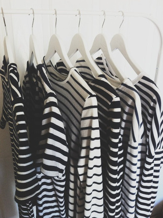 blouse t-shirt shirt stripes cool tumblr fashion jewellery rings striped dress striped top white black striped shirt
