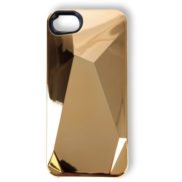 MARC BY MARC JACOBS Metallic Faceted Gold Iphone 5 Case