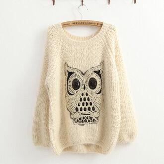 sweater owl sweater jumper