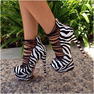 shoes high heels zebra print love them wantsobadly