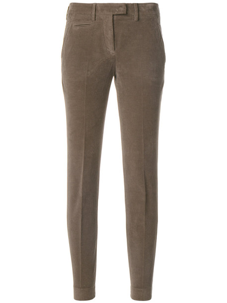 INCOTEX women spandex cotton brown pants