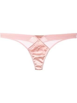 thong mesh satin purple pink underwear