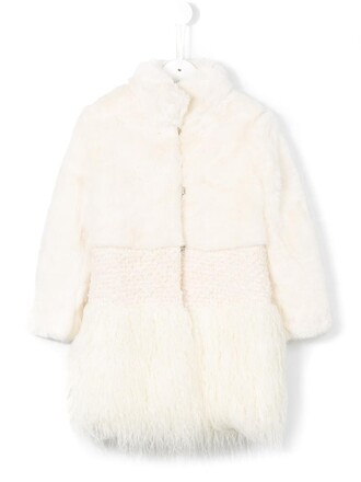 coat faux fur coat fur coat girl fur faux fur white