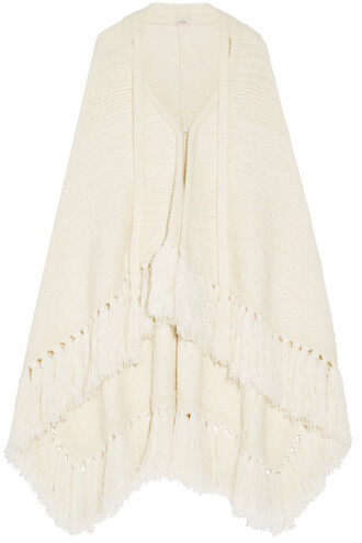 cape wool cream top