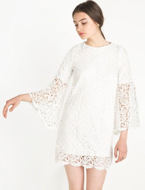 1e3501fc58 dress chloe white lace bell sleeve dress by new revival lace dress white  lace dress bell