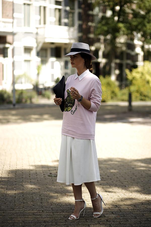 fashion zen skirt shoes blouse bag jewels