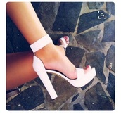shoes,white,heels