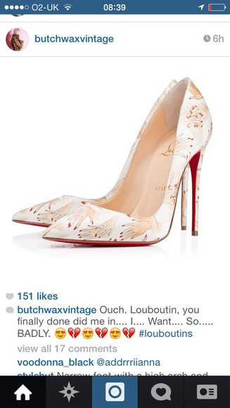shoes christian louboutin hands