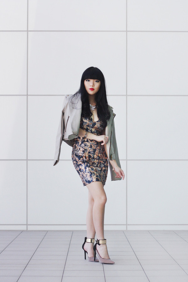 pale division jacket dress jewels shoes