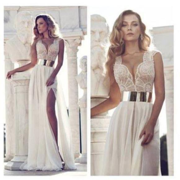 corset top bandeau dress skirt top bustier Belt beautiful gold