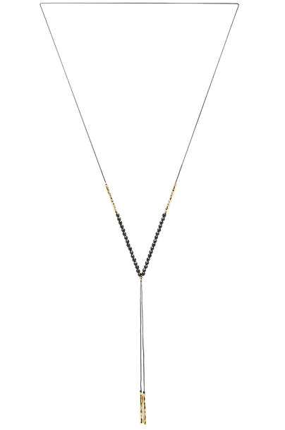 gorjana Power Gemstone Necklace in gold / metallic