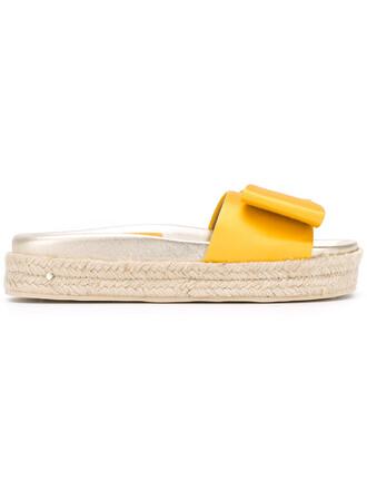 women sandals leather yellow satin orange shoes