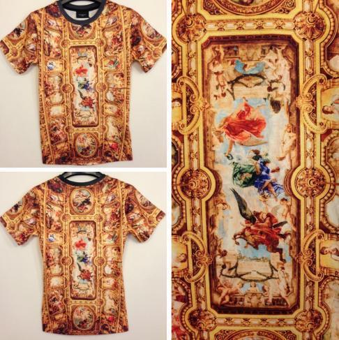 Nueva hombres 2013 3d de oro de los animales de ángel cristo impreso de la marca t  shirt casual de manga
