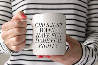 home accessory quote on it mug quote on it mug travel mug coffeee mug feminist feminism t-shirt