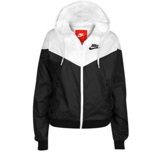 jacket black and white nike windrunner