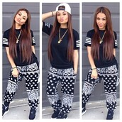 jeans,t-shirt,shoes,shirt,pants,black bandana pants,bandana,black,bandana sweat pants,bandana print joggers,bandana pants,black jeans,shrirt,stripes,swag,style,hip hop,urban,skirt,top,black plain shirt