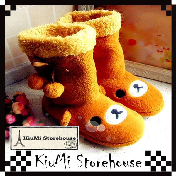 Cute rilakkuma plush indoor warm boots 074ri