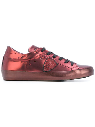 metallic women sneakers leather purple pink shoes