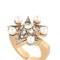 Star line ring w/ swarovski crystals