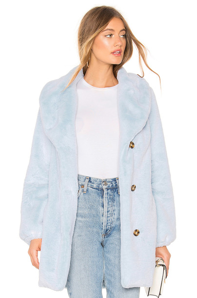 MAJORELLE Brinley Coat in blue