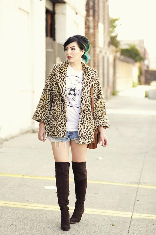 keiko lynn blogger leopard print knee high boots