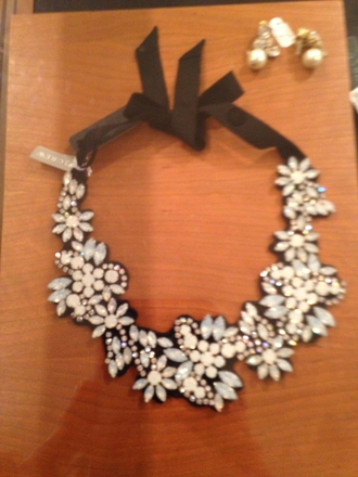 jewels necklace jewelry j crew floral diamonds diamond necklace girly classy casual shiny sparkle loft