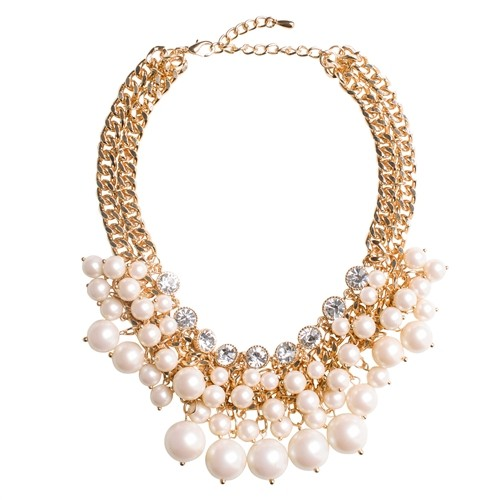 Rachel pearl cluster necklace
