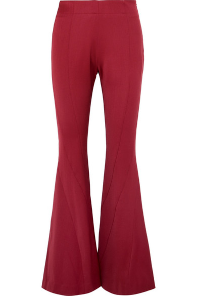 Mugler - Wool-blend twill flared pants